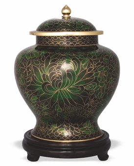 Forest Keepsake Medium Cloisonne Cremation Urn