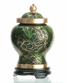 Forest Miniature Cloisonne Cremation Urn