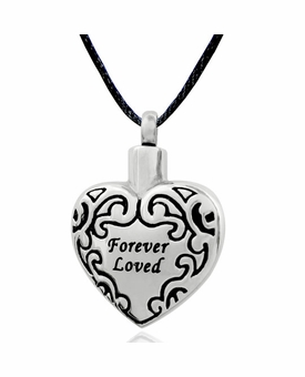 Forever Loved Stainless Steel Cremation Jewelry Pendant Necklace
