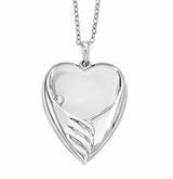 Forever My Baby Sterling Silver Memorial Jewelry Necklace