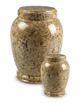 Fossil Column Marble Cremation Urn