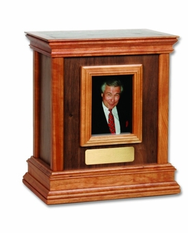 Framed Walnut Hardwood Handcrafted Cremation Urn by WoodMiller