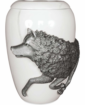 Free Spirit Wolf Large Cremation Urn