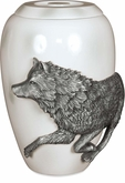 Free Spirit Wolf Medium Cremation Urn