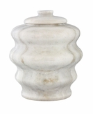 Fuji Antique White Marble Pet Cremation Urn
