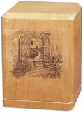 Garden Archway Classic Maple Wood Cremation Urn