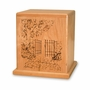 Garden Gate Cherry Cremation Urn - Engravable
