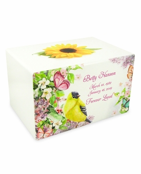 Garden Paradise Eternal Reflections White Finish Cremation Urn