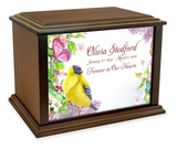 Garden Paradise Eternal Reflections Wood Cremation Urn - 3 Sizes