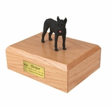 Giant Black Schnauzer Dog Figurine Pet Cremation Urn - 848