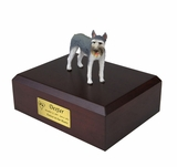 Giant Gray Schnauzer Dog Figurine Pet Cremation Urn - 851