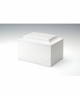 Glacier White Classic Mini Keepsake Urn - Engravable