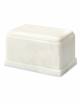 White Olympus Cremation Urn - Engravable