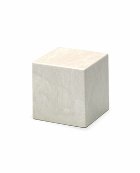 Glacier White Small Cube Cremation Urn - Engravable
