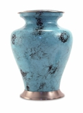 Glenwood Blue Marble Brass Cremation Urn