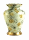 Glenwood White Marble Brass Cremation Urn