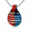 God Bless Our Fallen Heroes Cremains Encased in Glass Cremation Jewelry Pendant
