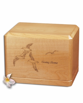 Going Home Classic Maple Wood Cremation Urn