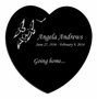 Going Home Doves Laser-Engraved Heart Plaque Black Granite Memorial