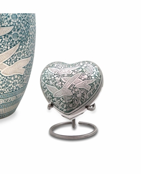 Going Home Heart Brass Keepsake Cremation Urn