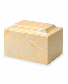 Gold Classic Cultured Marble Cremation Urn Vault - Engravable