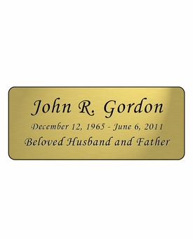 Gold Engraved Nameplate - Rounded Corners - 4-1/4  x  1-3/4