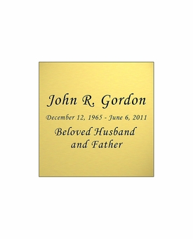 Gold Engraved Nameplate - Square - 1-7/8  x  1-7/8