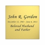 Gold Engraved Nameplate - Square - 2-3/4  x  2-3/4