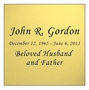 Gold Engraved Nameplate - Square - 3-1/2  x  3-1/2