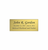 Gold Engraved Nameplate - Square Corners - 2-3/4  x  1-1/8