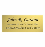 Gold Engraved Nameplate - Square Corners - 4-1/4  x  1-3/4