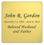 Gold Engraved Nameplate - Square with Rounded Corners - 3-1/2  x  3-1/2