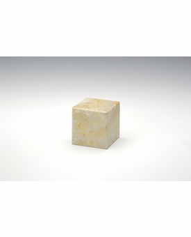 Gold Small Cube Cremation Urn - Engravable