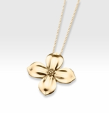 Gold Vermeil Dogwood Blossom Cremation Jewelry