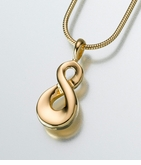 Gold Vermeil Infinity Cremation Jewelry