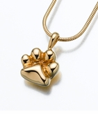 Gold Vermeil Paw Cremation Jewelry