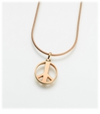 Gold Vermeil Peace Sign Cremation Jewelry Pendant