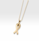 Gold Vermeil Remembrance Ribbon Cremation Jewelry