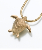 Gold Vermeil Sea Turtle Cremation Jewelry
