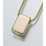 Gold Vermeil Sliding Rectangle Cremation Jewelry
