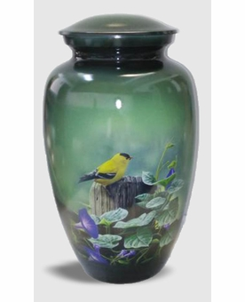 Goldfinch Picture Cremation Urn