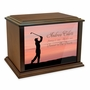 Golfer Eternal Reflections Wood Cremation Urn - 3 Sizes