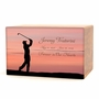 Golfer Eternal Reflections II Wood Cremation Urn - 5 Urn Choices