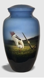 Golfer's Paradise Picture Cremation Urn