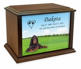 Gordon Setter True Companion Dog Photo Pet Cremation Urn - 3 Sizes