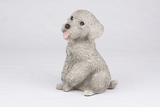 Gray Miniature Poodle Hollow Figurine Pet Cremation Urn - 2762