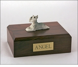 Gray Schnauzer Dog Figurine Pet Cremation Urn - 1907