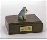 Gray Schnauzer Dog Figurine Pet Cremation Urn - 1909