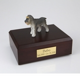 Gray Schnauzer Dog Figurine Pet Cremation Urn - 845