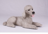 Gray Standard Poodle Hollow Figurine Pet Cremation Urn - 2766